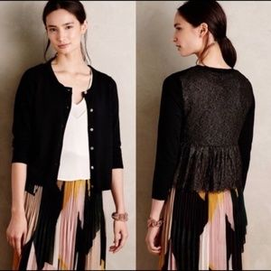 Anthropologie Knitted and Knotted Lace Cardigan